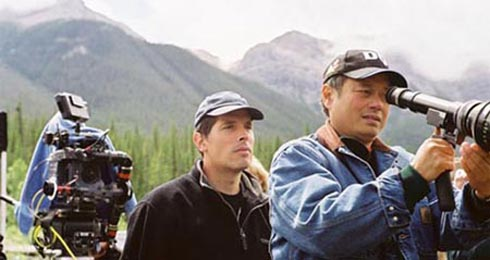 Ang Lee, fr?¥n inspelningan av Brokeback Mountain ?©Focus Features