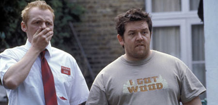 Simon Pegg och Nick Frost i Shaun of the Dead