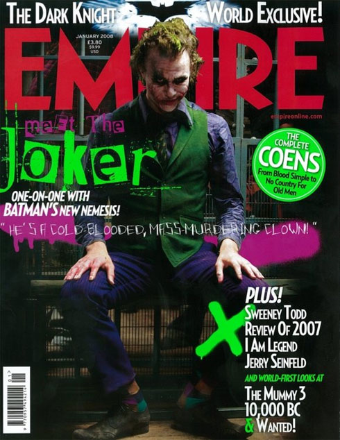 Heath Ledger som The Joker i Empire