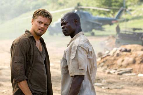 Leonardo DiCaprio och Djimon Hounsou i Blood Diamond