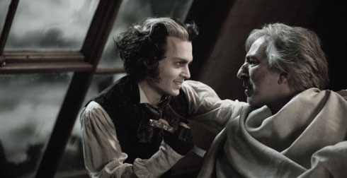 Johnny Depp och Alan Rickman i Sweeney Todd