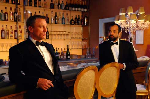 Daniel Craig och Jeffrey Wright i Casino Royale
